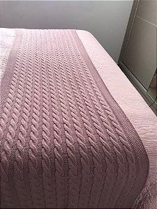 Peseira Espanha de Tricot Luxo Para Cama Solteiro 140x60