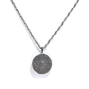 Colar Ball de Crochê em Metal Artesanal Heliana Lages