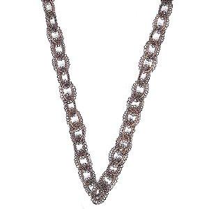Colar Chain de Crochê em Metal Artesanal Heliana Lages