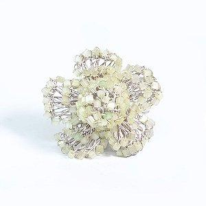Anel Florido de Crochê em Metal Artesanal Heliana Lages