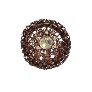 Anel Mandala de Crochê em Metal Artesanal Heliana Lages