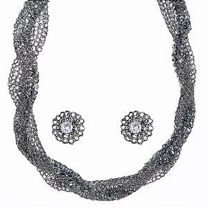 Conjunto Glam de Crochê em Metal Artesanal Heliana Lages