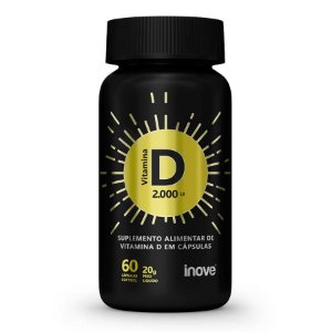 Vitamina D 2.000 ui Inove Nutrition 60 Cápsulas