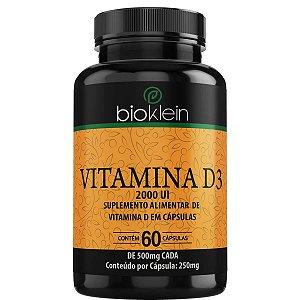 Vitamina D3 2000 UI - 60 Cápsulas - Bioklein