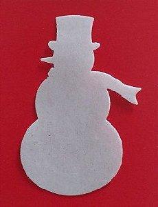 Aplique Boneco de Neve em PA Premium (6,3cmx4cm)