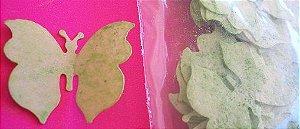 Aplique Borboleta de papel de arroz M c/ brilho - 3632 (3,3cm)