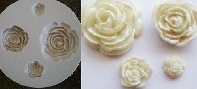 Molde de silicone Rosas Lindas (Br.) -4904 (3 a 0,8cm)