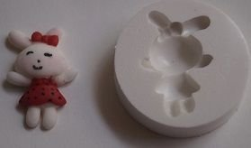 Molde de silicone Coelha p/ docinhos (Br.) -4750 (3,5cm)