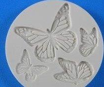 Molde de silicone Borboletas -3728 (4cm;2,5cm;2cm e 2cm)
