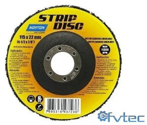 Strip Disc  Norton  -  Disco Removedor, Limpeza, Tinta, Verniz, óxidos, etc.