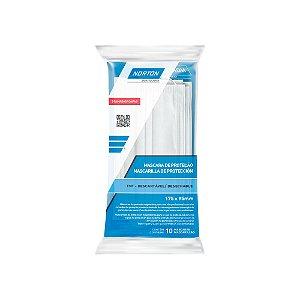 Máscara Descartável Tnt Tripla Camada Clip Nasal - Envelope c/ 10 unidades