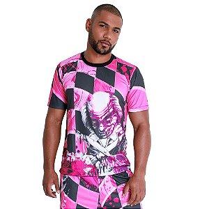 Camiseta Quebrada Palhaço Rosa