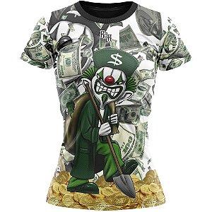 Camiseta Feminina Palhaço Metralha