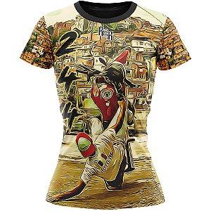 Camiseta Feminina Grau de Moto 244 Favela