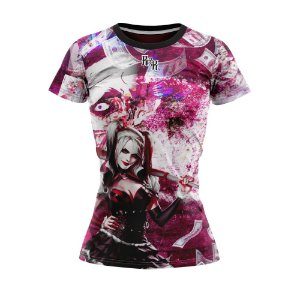 Camiseta Feminina Arlequina Desenho