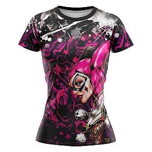 Camiseta Feminina Arlequina Rosa