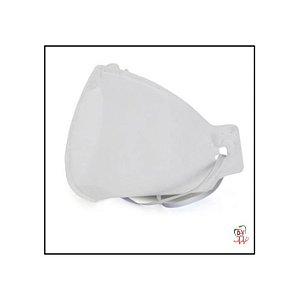 Máscara N95 PFF2 Branca de Proteção Respiratória com Elástico e Clipe Nasal