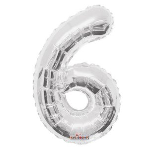 Balão Metalizado Minishape Regina N6 Prata