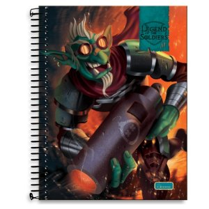 Caderno Univ  200F Cadersil Legend Of The Soldiers