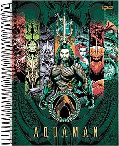 Caderno Universitário 10m 200f Cd Jandaia Aquaman