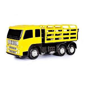 Caminhão Boiadeiro Poliplac Minifrota C/Boizinhos