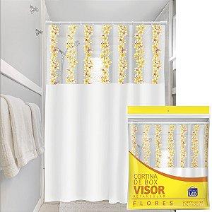 Cortina Box Visor Transparente Plast Leo Flores