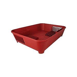 Escorredor de Louças Basic Vermelho Bold Coza