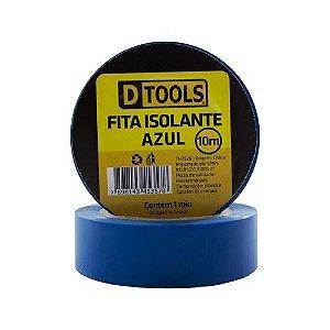 Fita Isolante Dtools Azul 10m