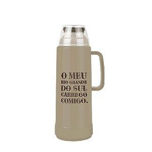 Garrafa Térmica Mor Use Farroupilha Bege 1.0L