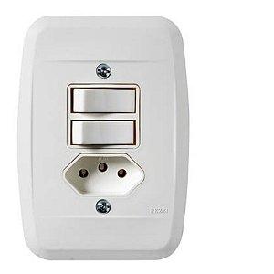 Interruptor Simples 2tc + Tomada 2P+T 10A 250V