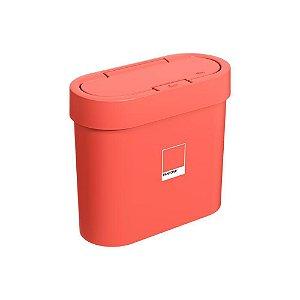 Lixeira Automática Coza Flat 2800ml Pantone Coral