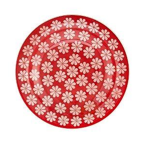 Prato Fundo de Cerâmica Oxford 23cm Renda
