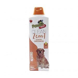 Shampoo/Condic Filhote Power Pets 700ml Neutro