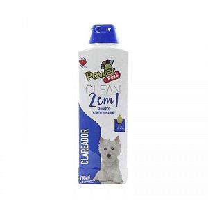 Shampoo/Condic P/Cães Power Pets 700ml Clareador