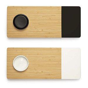 Tábua de Bamboo Mor C/Recipiente 35cmx15cmx1.6cm