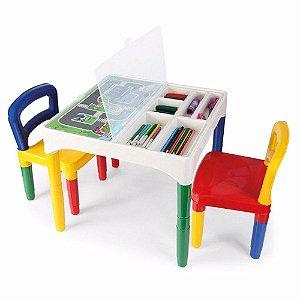 Mesinha Didática Com 2 Cadeiras Não Acompanha Láspis e Canetas - Poliplac