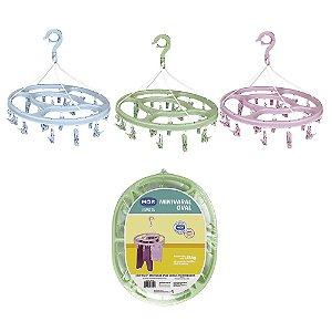 Mini Varal Mor Oval com 24 Prendedores