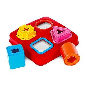 Mini Kit Didático Com Peças Coloridas de Encaixar - Poliplac