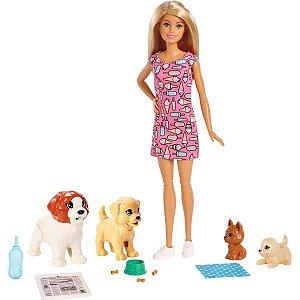 Boneca Barbie Mattel Treinadora de Cachorrinhos
