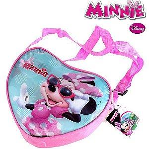 Bolsinha Minnie Formato de Coração Com Alça