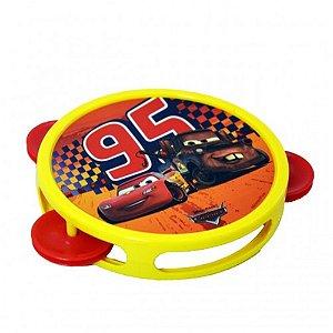 Brinquedo Etitoys Pandeiro Plástico Carros Disney