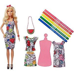 Boneca Barbie Mattel Crayola Pintando Seu Estilo