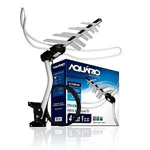 Antena Externa Aquario DTV-3000 4 em 1 HDTV