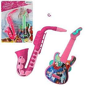Kit Guitarra e Saxofone Etitoy das Princesas