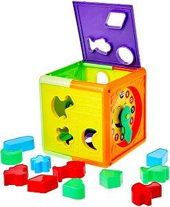 Brinquedo Pica Pau Cubo Didático Com Blocos