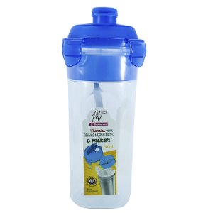 Shakeira 500ml Sanremo Fit Com Travas e Mixer Azul