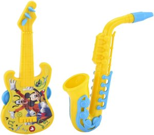 Kit Guitarra e Saxofone Etitoys do Mickey