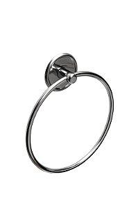 Toalheiro Redondo para Banheiro Chroma - Steel