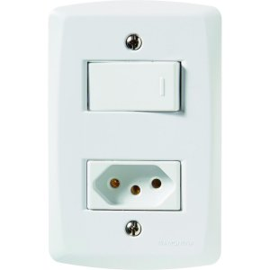 Interruptor Simples + Tomada 2P+T 20A 250V - Tramontina - Lux2 BR