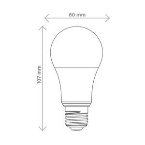 Lâmpada LED Tramontina 9W Bivolt 6500K Luz Branca